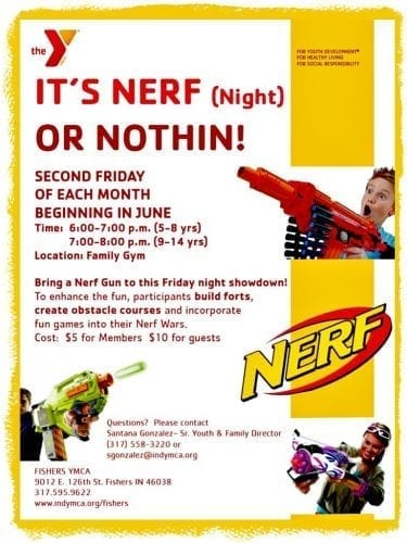 Nerf Night @ Fishers YMCA | Fishers | Indiana | United States
