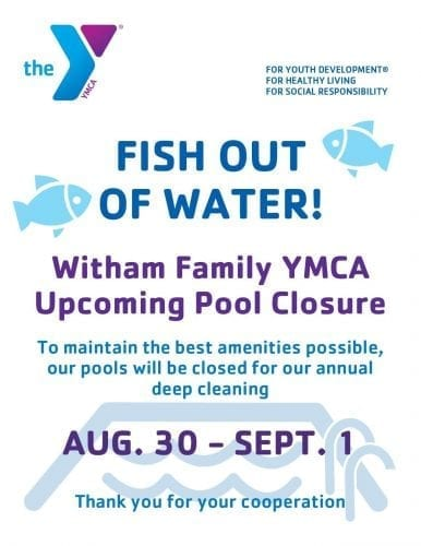 Annual Deep Cleaning Pool Closure @ Witham Family YMCA | Lebanon | Indiana | United States