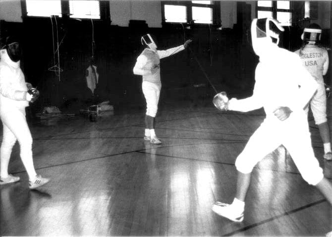 Fencing inside Historic Gym | YMCA at the Athenaeum | YMCA of Greater Indianapolis