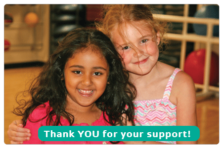two young girls - Thank You for support