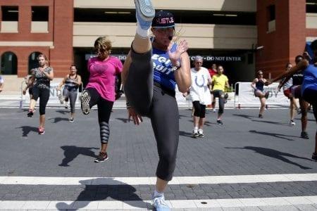 Workout Wednesday on Georgia Street