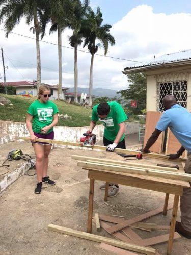 Volunteers Building | Spring Break 2018 | Mandeville Jamaica | Intercollegiate Y