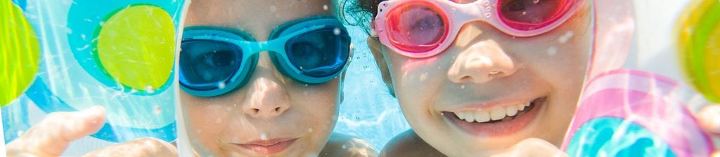 young girls under water
